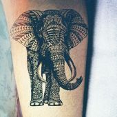 elephant tattoo 3d