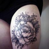 tatuaże damskie szkic kwiatów