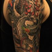 tatuaże męskie na ramie phoenix