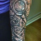 tatuaże 3d na ręce mapa