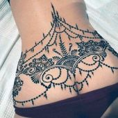 lower back tattoo for women