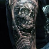 death tattoo for man