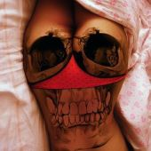 incredible skull tattoo for woman