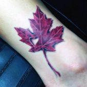 tatuaże miłosne liść 3d