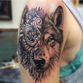 amazing wolf arm tattoo