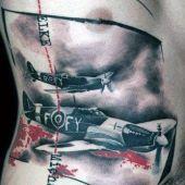 war tattoo airplanes