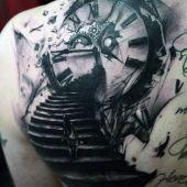 animal tattoo on back