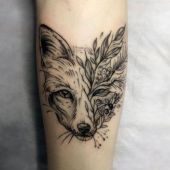 amazing fox tattoo
