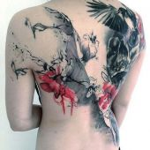 tattoo on back for woman
