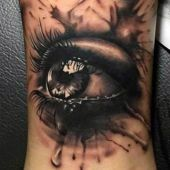 incredible 3d eye tattoo