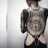 incredible tattoo on back for women