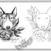 bullterrier tattoo