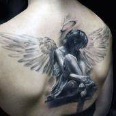 amazing 3d angel tattoo