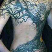 back tattoo tree 3d