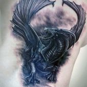 amazing  dragon 3d tattoo
