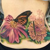 beauty lower back tattoo