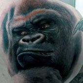 amazing ape tattoo 3d