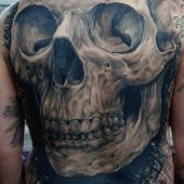 tattoo skull on back