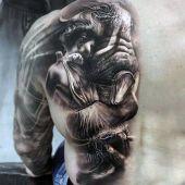 tatuaże 3d twarz i kobieta