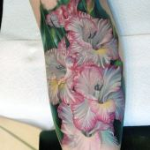 realistic flower tattoo 3d