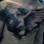 men chest amazing angel face