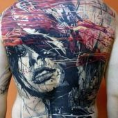 art tattoo on back