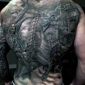 cool incredible tattoo on back