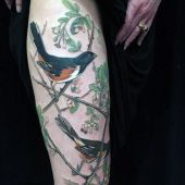 bird leg tattoo