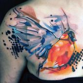 beauty bird tattoo on arm