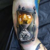 incredible 3d hourglass tattoo