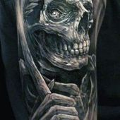 death tattoo on arm