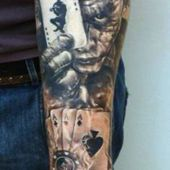 joker tattoo 3d