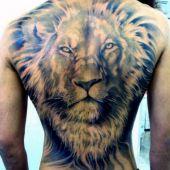 tatuaże zwierząt głowa lwa