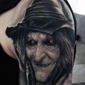 tatuaże 3d czarownica