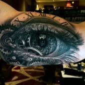 biomechanical eye 3d tattoo