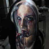 incredible 3d arm tattoo