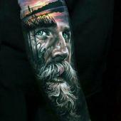 amaizing face tattoo 3d