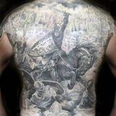 warrior full back tattoo