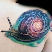 snail 3d tattoo