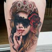 tatuaż tajemnicza twarz