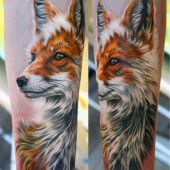 fox 3d tattoo