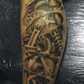 Biomechanic tattoo 3D