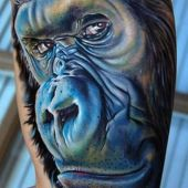 tatuaże 3D goryl