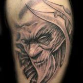 tatuaże 3D twarz demona