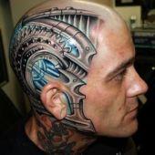 Biomechanic tattoo 3D head