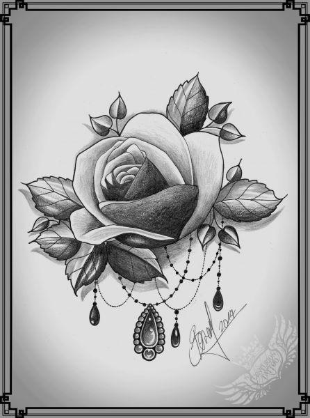 Tatuaż róża wzór