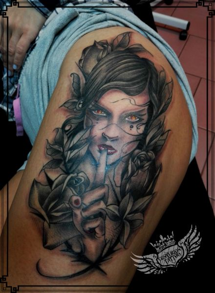 centuriontattoo tatuaż na udzie