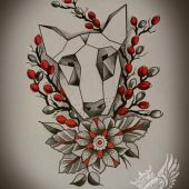 Bullterrier tattoo design