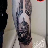 Husarz tatuaż / anty islam tattoo