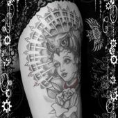 Neo traditional gothic / dotwork tattoo